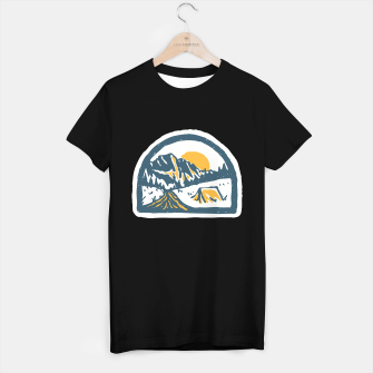 Miniatur Camping Hand Drawn T-shirt regular, Live Heroes
