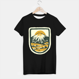 Miniatur Mountain Hand Drawn T-shirt regular, Live Heroes