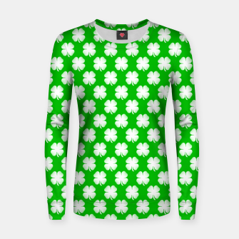 Thumbnail image of Clover Tiled Women sweater, Live Heroes