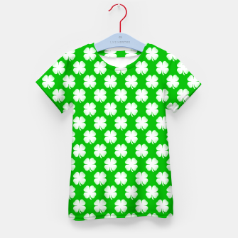 Thumbnail image of Clover Tiled Kid's t-shirt, Live Heroes