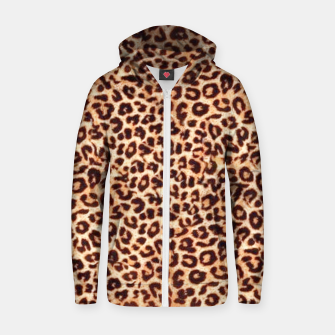 Thumbnail image of Women New Fashion Leopard Animal Print  Zip up hoodie, Live Heroes