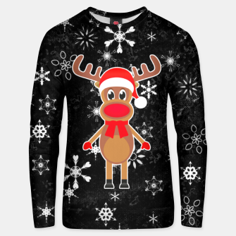 Thumbnail image of Rudy the Christmas Reindeer Black Unisex sweater, Live Heroes