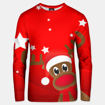 Thumbnail image of Rudy the Christmas Reindeer Unisex sweater, Live Heroes