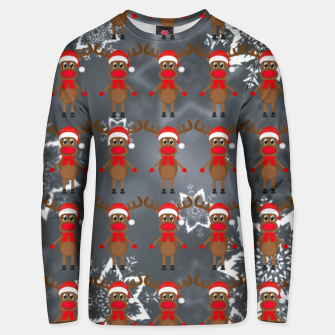 Thumbnail image of Rudy the Christmas Reindeer 3 Unisex sweater, Live Heroes