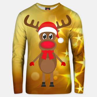 Thumbnail image of Rufy the Christmas Reindeer 4 Unisex sweater, Live Heroes