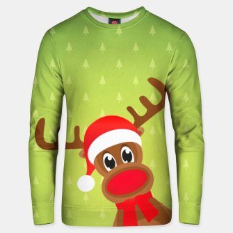 Thumbnail image of Rudy the Christmas Reindeer 2 Unisex sweater, Live Heroes