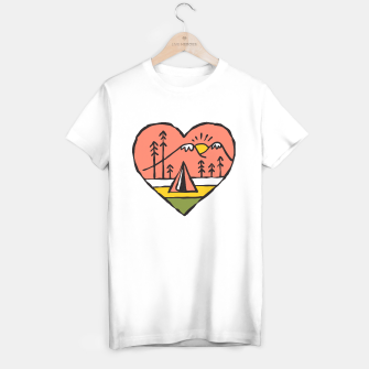 Miniatur Camping in Love T-shirt regular, Live Heroes