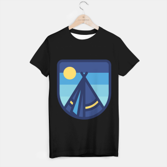 Miniatur Camp Tent T-shirt regular, Live Heroes