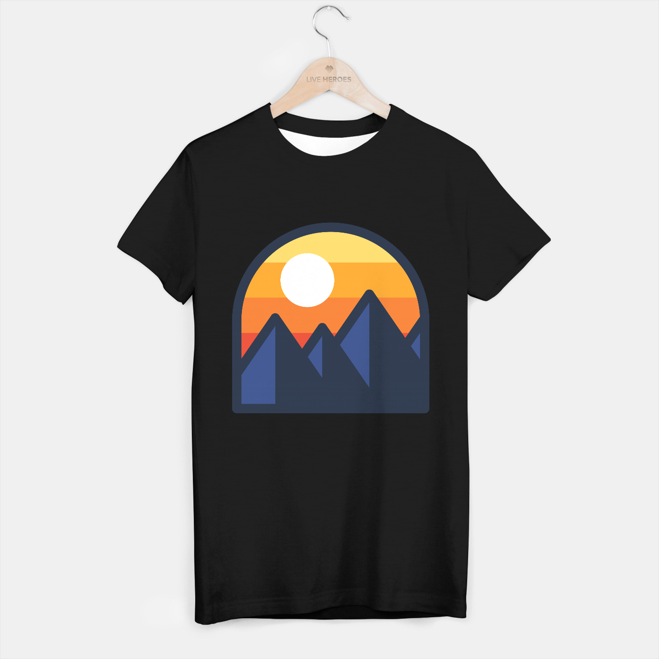Foto Beauty Sunset Mountain T-shirt regular - Live Heroes