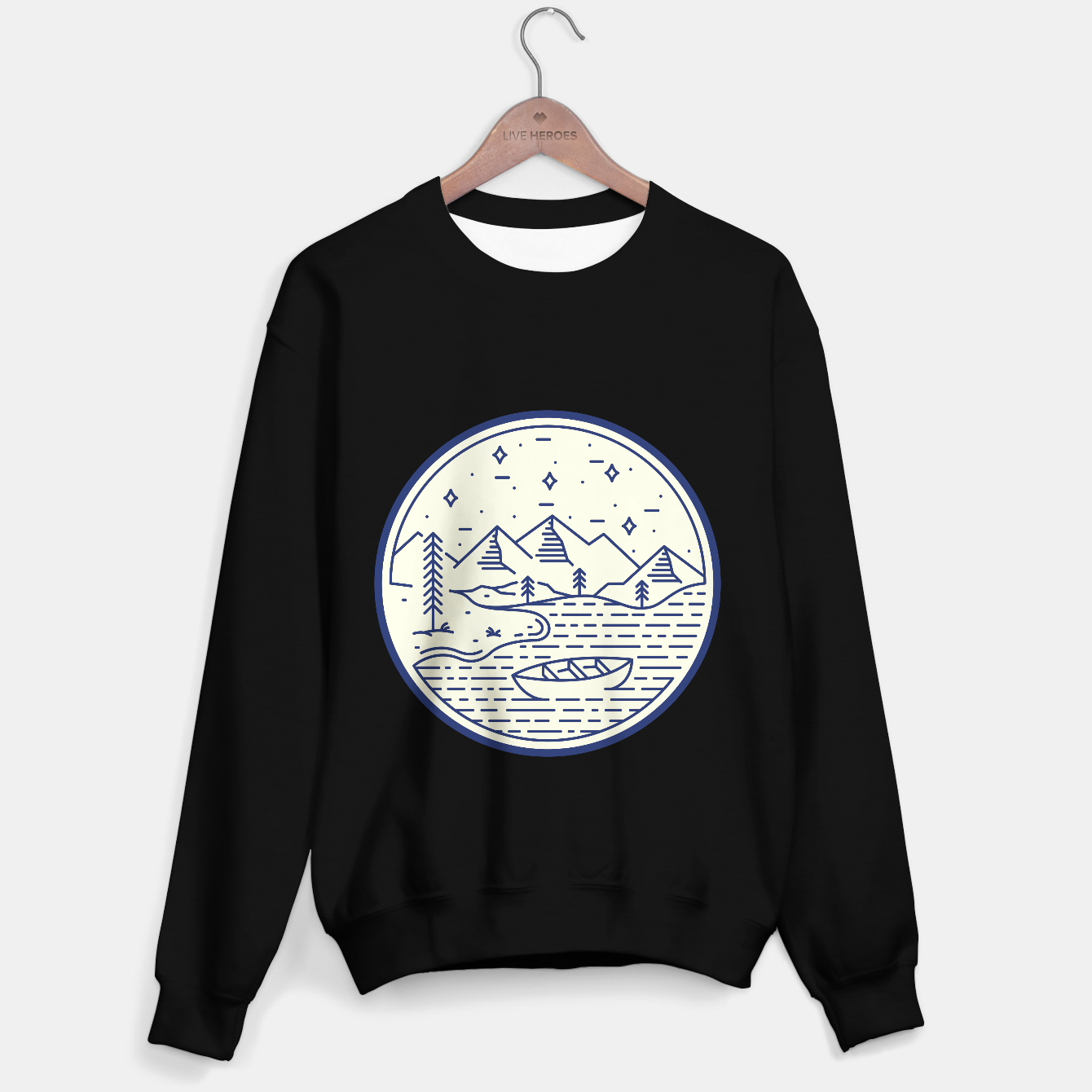 Image de Lake and Canoe Sweater regular - Live Heroes