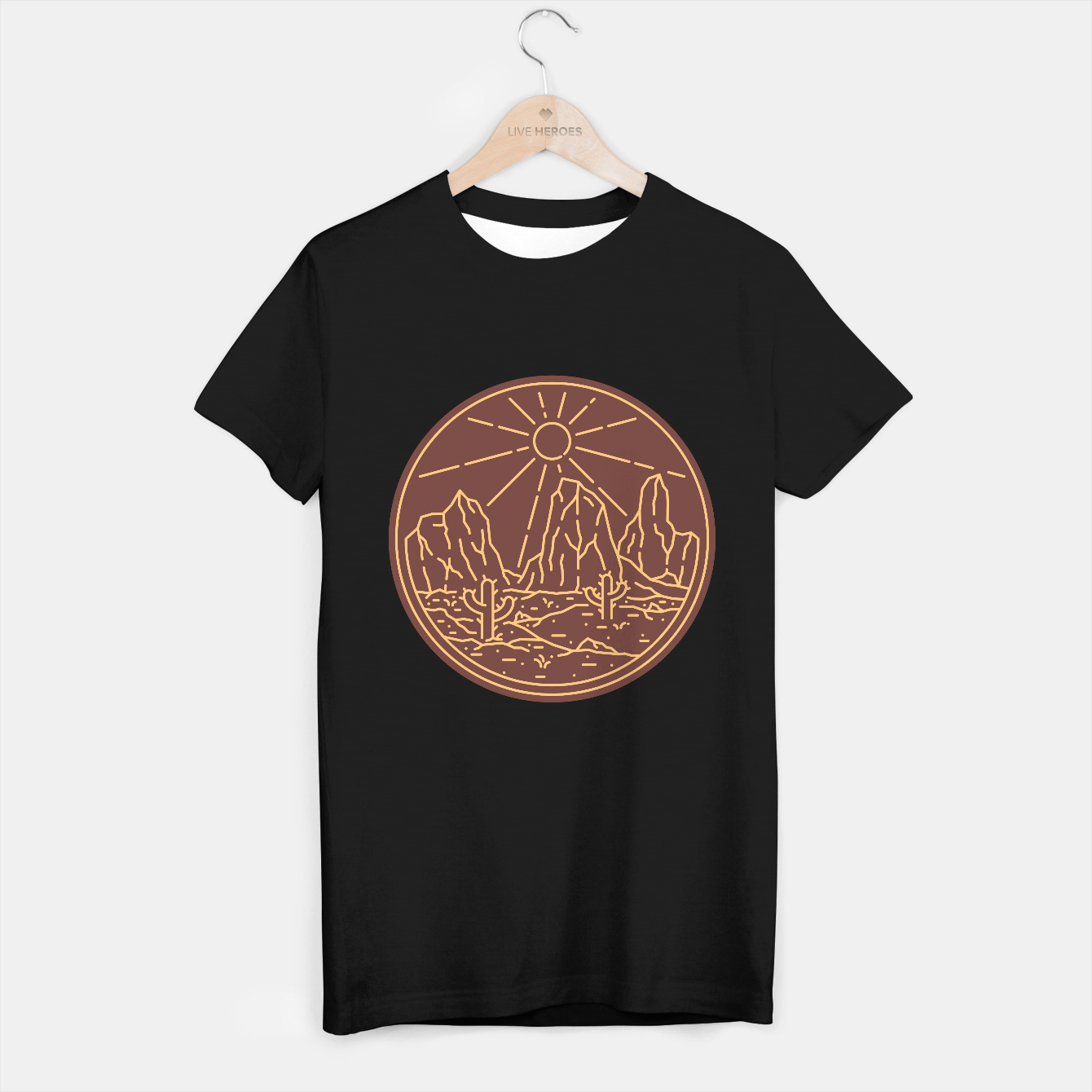 Image de Beauty Desert T-shirt regular - Live Heroes