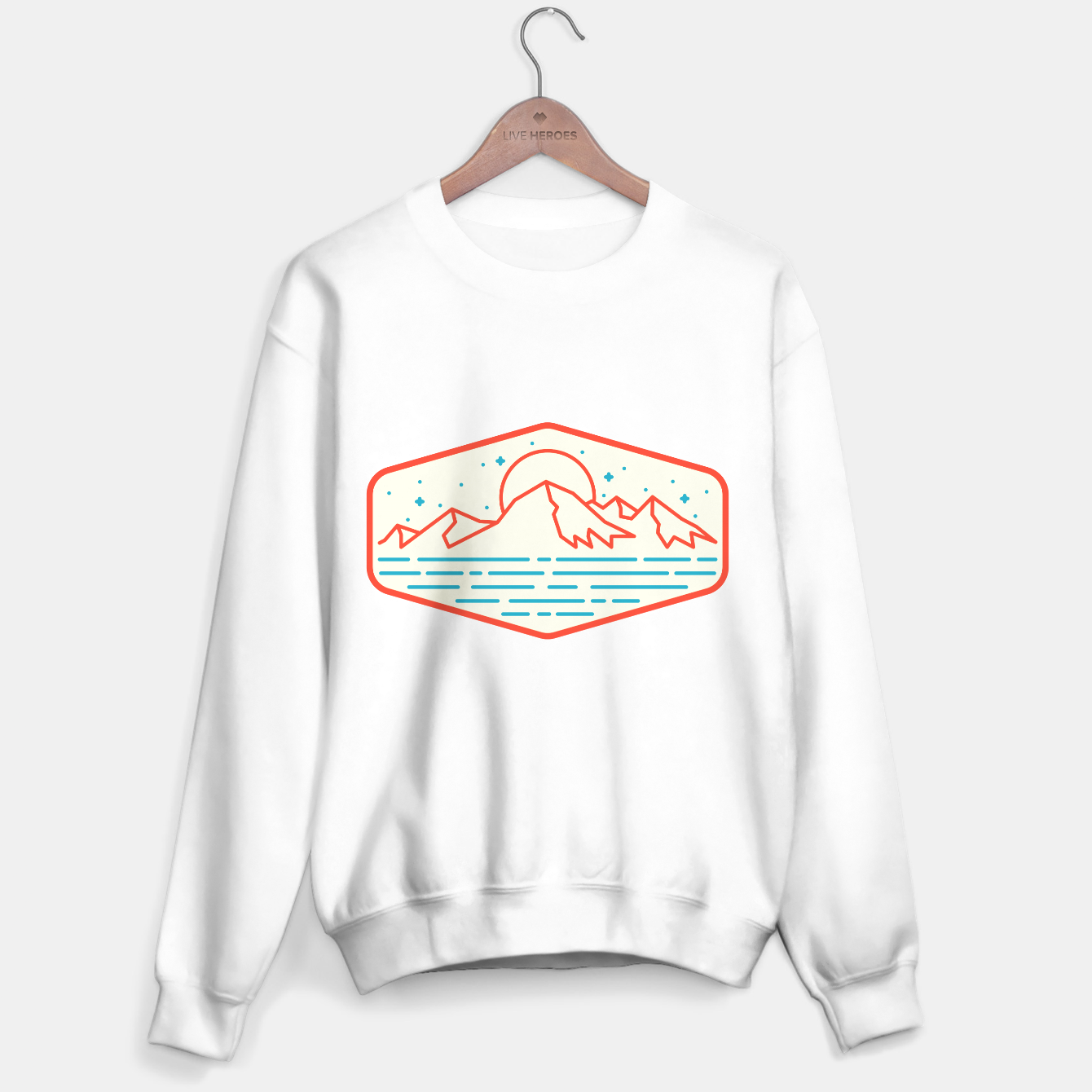 Foto Mountain and Sea Sweater regular - Live Heroes
