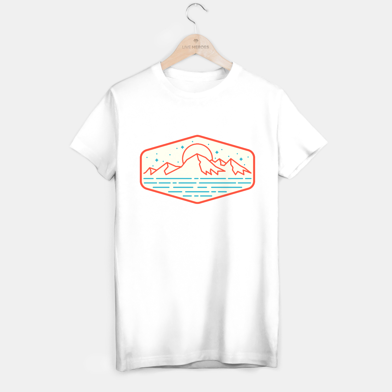 Image de Mountain and Sea T-shirt regular - Live Heroes