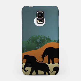 Miniatur Elephant Family Illustration Samsung Case, Live Heroes