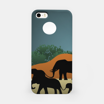 Miniatur Elephant Family Illustration iPhone Case, Live Heroes