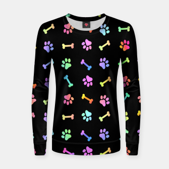 Thumbnail image of Dog Treats On Black Women sweater, Live Heroes