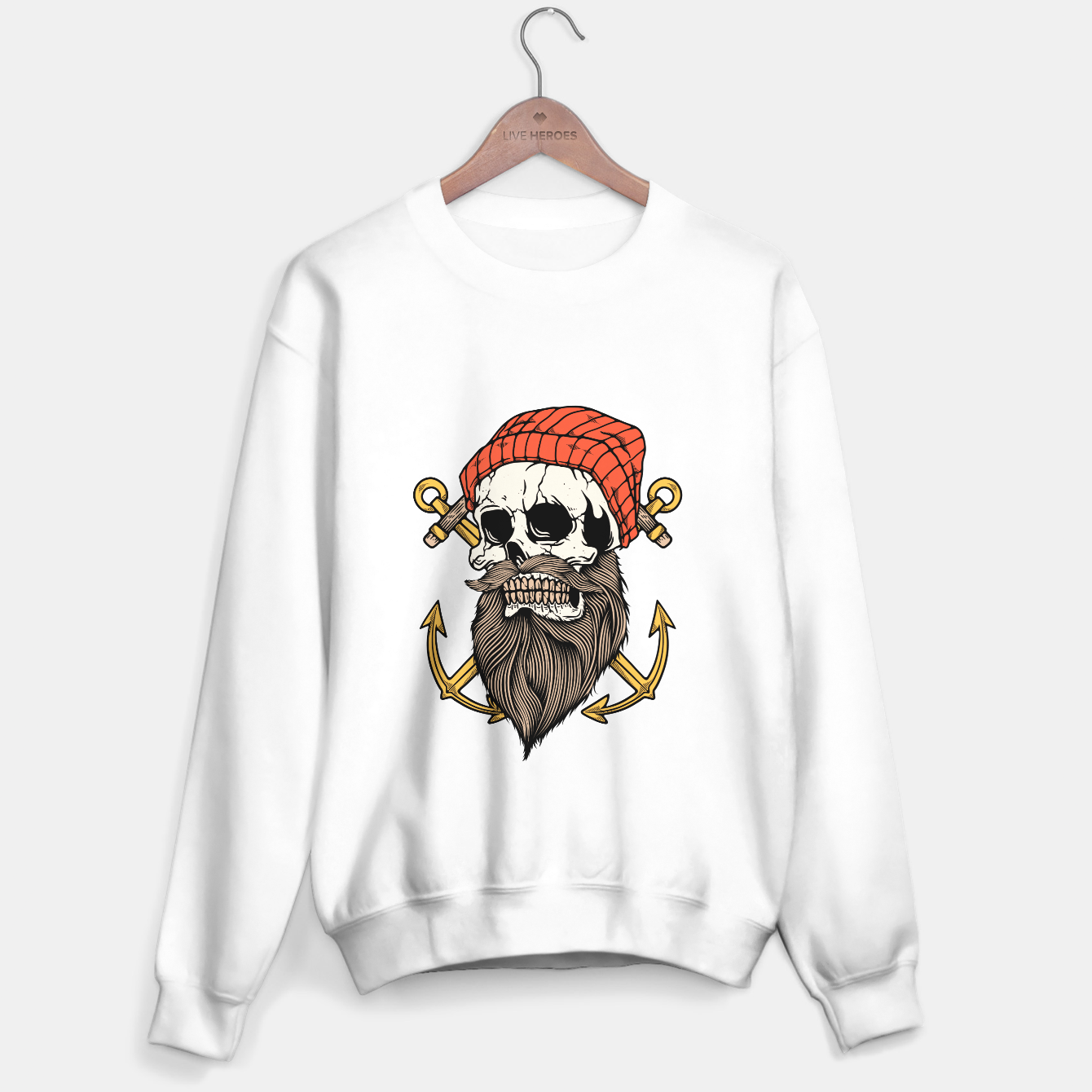 Foto Skull Anchor Sweater regular - Live Heroes