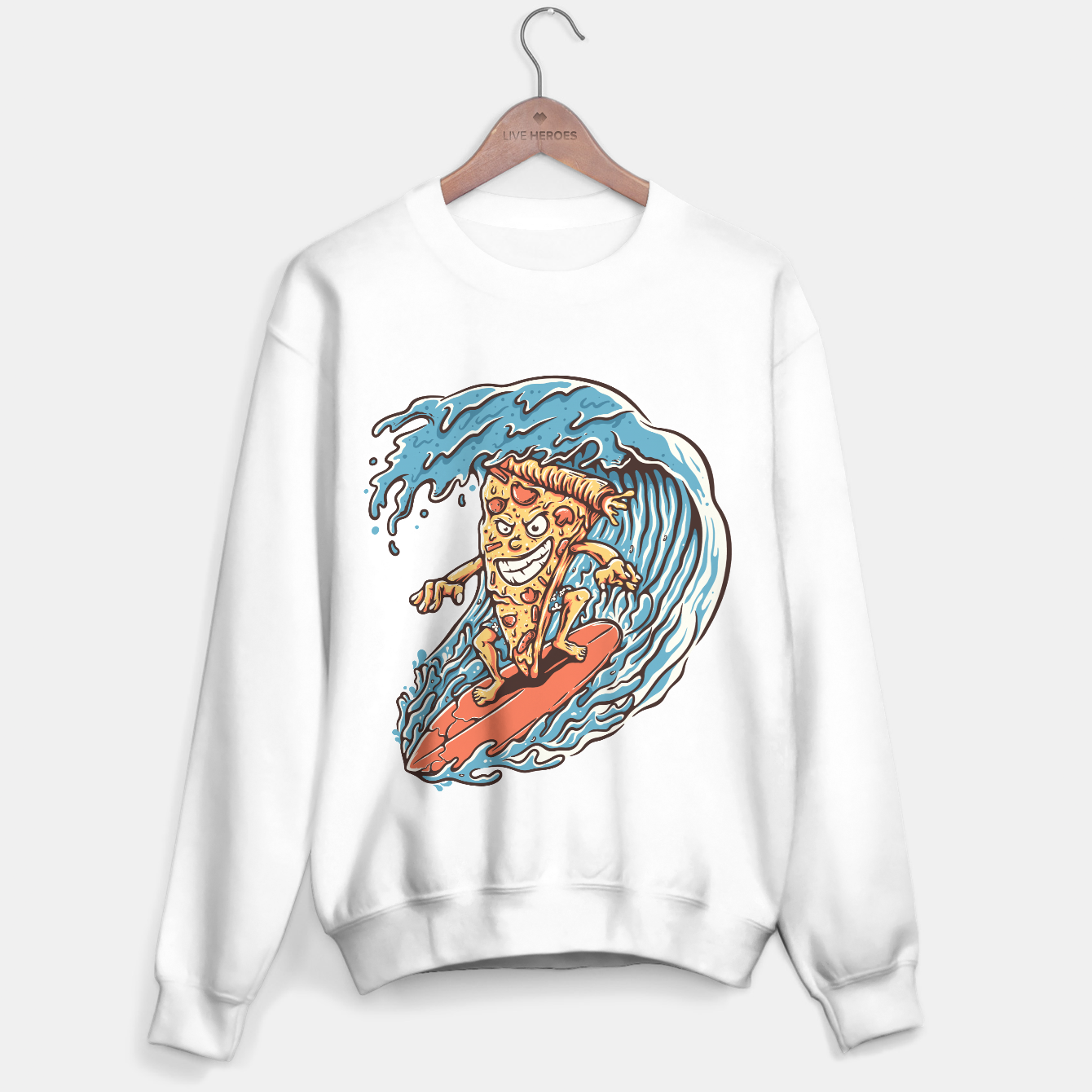 Image of Pizza Surfer Sweater regular - Live Heroes