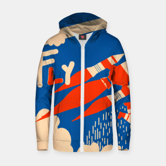 Thumbnail image of Fly Zip up hoodie, Live Heroes