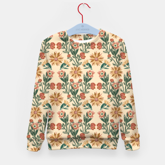 Thumbnail image of Folk Floral Kid's sweater, Live Heroes