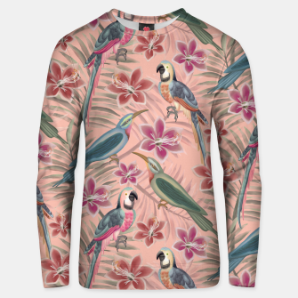 Thumbnail image of Parrot Pink Unisex sweater, Live Heroes