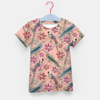 Thumbnail image of Parrot Pink Kid's t-shirt, Live Heroes