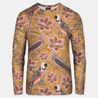 Thumbnail image of Parrot mustard Unisex sweater, Live Heroes