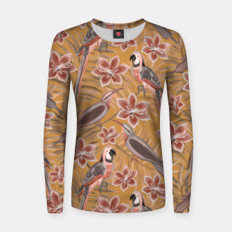 Thumbnail image of Parrot mustard Women sweater, Live Heroes