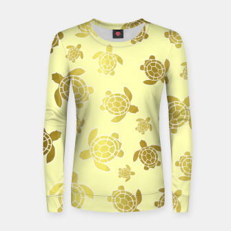 Imagen en miniatura de Golden Sea Turtles Women sweater, Live Heroes