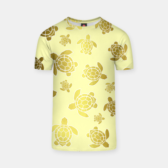Imagen en miniatura de Golden Sea Turtles T-shirt, Live Heroes