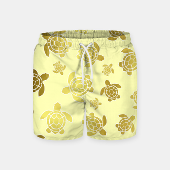 Miniaturka Golden Sea Turtles Swim Shorts, Live Heroes