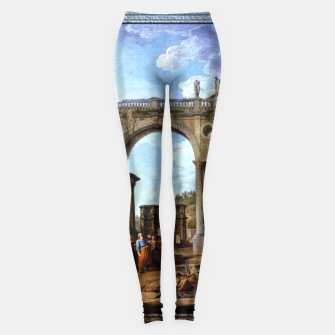 Thumbnail image of A Capriccio Of Roman Ruins and the Arch of Constantine by Giovanni Paolo Pannini Leggings, Live Heroes