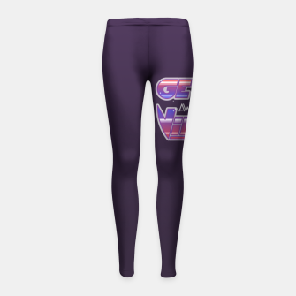 Thumbnail image of Get Awesome Vibes Girl's leggings, Live Heroes
