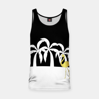 Thumbnail image of Golden Flamingo Beach Tank Top, Live Heroes
