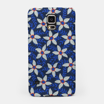 Thumbnail image of White flower stars in cyan mist Samsung Case, Live Heroes
