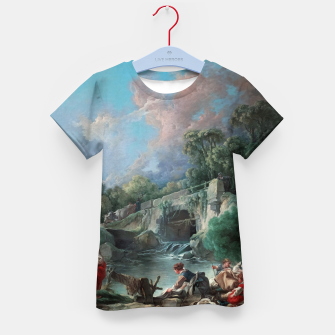 Thumbnail image of Washerwomen by François Boucher Kid's t-shirt, Live Heroes