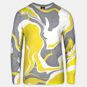 Thumbnail image of Marbled yellow and gray 67 Sudadera unisex, Live Heroes