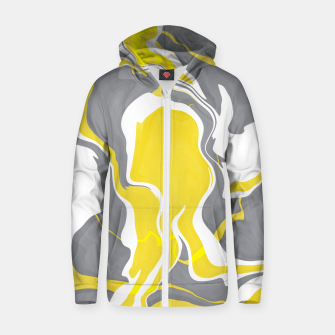 Thumbnail image of Marbled yellow and gray 67 Sudadera con capucha y cremallera , Live Heroes
