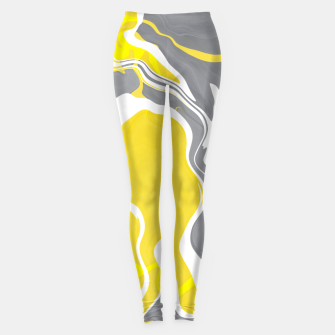Thumbnail image of Marbled yellow and gray 67 Leggings, Live Heroes