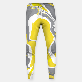 Thumbnail image of Marbled yellow and gray 67 Pantalones de chándal , Live Heroes