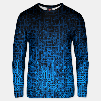 Thumbnail image of Reboot III BLUE Computer Circuit Board Pattern Unisex sweater, Live Heroes