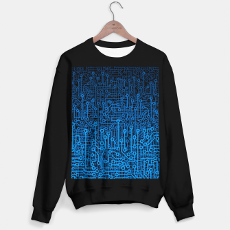 Thumbnail image of Reboot III BLUE Computer Circuit Board Pattern Sweater regular, Live Heroes