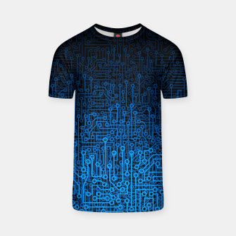 Thumbnail image of Reboot III BLUE Computer Circuit Board Pattern T-shirt, Live Heroes