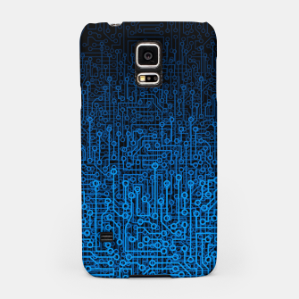 Thumbnail image of Reboot III BLUE Computer Circuit Board Pattern Samsung Case, Live Heroes