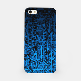 Thumbnail image of Reboot III BLUE Computer Circuit Board Pattern iPhone Case, Live Heroes