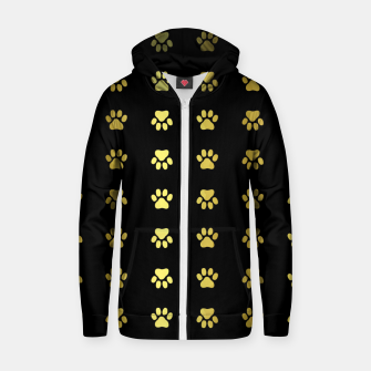 Thumbnail image of Gold Puppy Paws Zip up hoodie, Live Heroes
