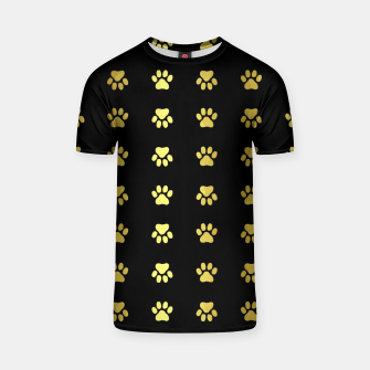 Miniatur Gold Puppy Paws T-shirt, Live Heroes
