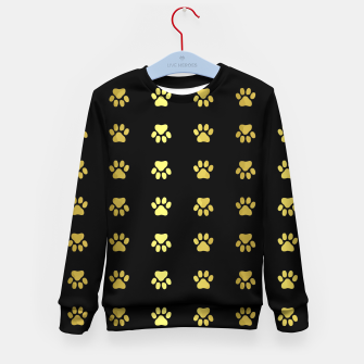 Miniatur Gold Puppy Paws Kid's sweater, Live Heroes