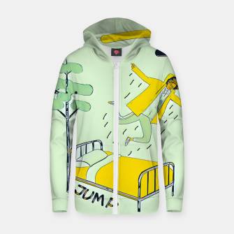 Thumbnail image of Jump Zip up hoodie, Live Heroes