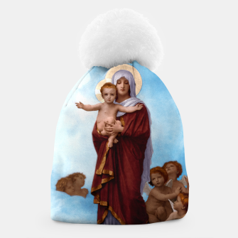 Thumbnail image of Our Lady of the Angels by William-Adolphe Bouguereau Colorized Old Masters Classical Art Reproduction Beanie, Live Heroes